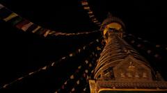 Swayambhunath Stupa, the Monkey Temple, Nepal. Stock Footage
