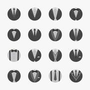 Businessman Suit Icons with White Background , eps10 vector format - stock illustration