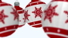 Christmas tree decoration balls. Alpha matte Stock Footage