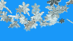 Snowflakes transitions. Alpha matte Stock Footage