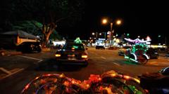 Malacca at night HD Stock Footage