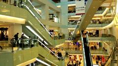 Hundreds of customers in APM shopping mall,Wangfujing,Beijing,China Stock Footage