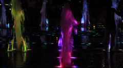 Night fountain colours Stock Footage