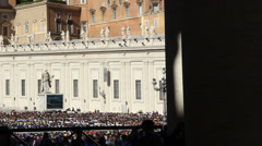 Pope Francis Wednesday Papal Audience at St Peters 9 - stock footage