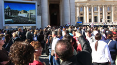 Pope Francis Wednesday Papal Audience at St Peters 31 - stock footage