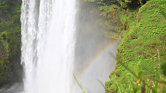 Skogafoss waterfall - stock footage