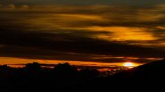 Gorgeous Sunrise Timelapse at La Reunion, Piton De La Fournaise Stock Footage