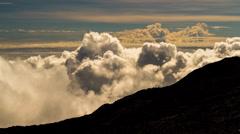 Clouds Timelapse over Mountain Range, Reunion, Piton De La Fournaise 02 Stock Footage