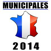 Elections Municipales - stock illustration