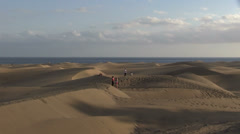Spain - Gran Canaria - Maspalomas sand dunes Stock Footage