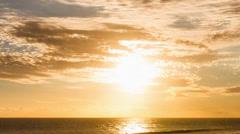 Beach Sunset Close Up Timelapse at La Reunion, Saint Pierre Stock Footage
