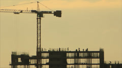Constructions building team Stock Footage