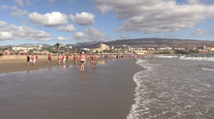 Spain - Gran Canaria - Maspalomas beach Stock Footage