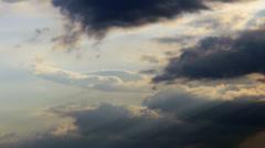 Backlit dark sky clouds Stock Footage
