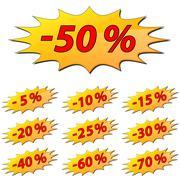reduce price label - stock illustration