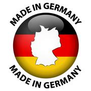 Made in Germany label - stock illustration