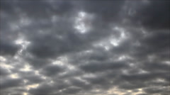 Twilight mostly cloudy Stock Footage