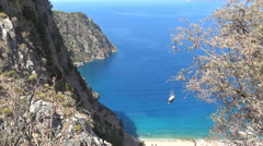 Butterfly valley deep gorge fethiye turkey Stock Footage