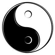 Yin Yang sign Stock Illustration
