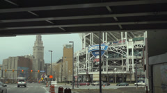 progressive field stadium cleveland ohio - stock footage