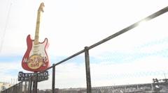 Cleveland Hard Rock Guitar Stock Footage