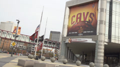 Cavs Stadium Cleveland OH Stock Footage