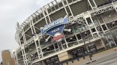 Progressive field stadium cleveland ohio Stock Footage