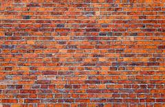 old brick wall as background - stock photo