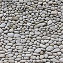 Stock Photo of white pebble wall background