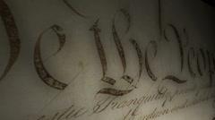 Yhdysvaltain perustuslain Montage Arkistovideo