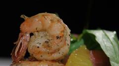 Tiger shrimps - stock footage