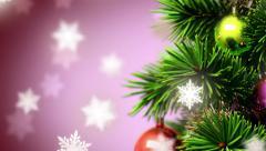 beautiful Christmas background - stock footage