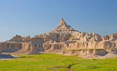 Pinnacle over the badlands Stock Photos