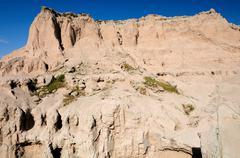 Badlands escarpment Stock Photos