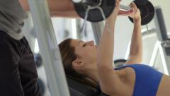 7of27 People training in fitness club, gym and sport activity Stock Footage