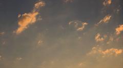 Twilight light clouds Stock Footage