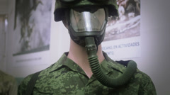 Mannequin with camouflage uniform - stock footage