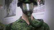 Stock Video Footage of Mannequin with camouflage uniform