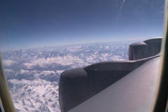 Aircraft Engine in flight Stock Footage