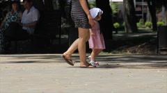 Girls walk Stock Footage