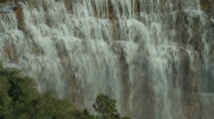 Golf Course Waterfall Stock Footage