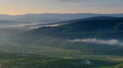 Timelapse sunrise in the mountains. Cave city Tepe-Kerman, Crimea Stock Footage