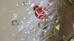 New year ornamentation - stock footage