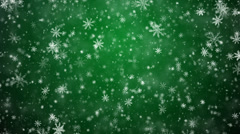 Winter Christmas background, falling snowflakes Stock Footage