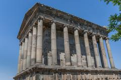 garni temple in armenia - stock photo