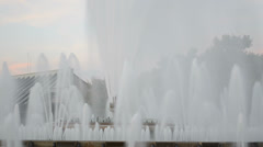Singing Magic Fountain Stock Footage