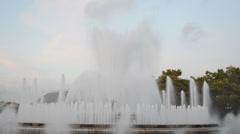 Singing Magic Fountain Stock Footage