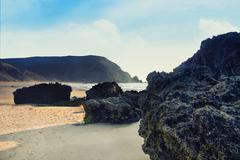 Coastline area of sagres, portugal Stock Photos