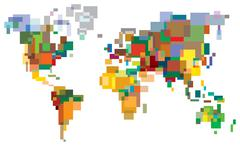 Stock Illustration of many-colored world