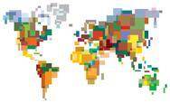 Many-colored world Stock Illustration